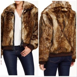 NWT⭐️IMPOSTER Zip Front Faux Fur Bomber  Jacket
